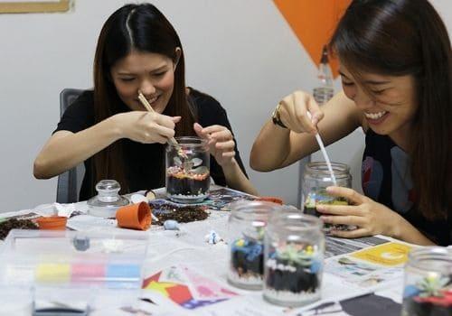Terrarium Workshop - Team Building Activities Singapore
