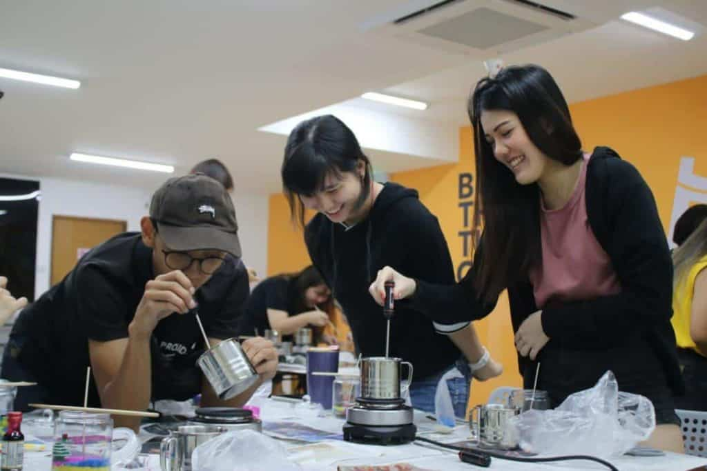 Year End Party Themes: virtual candle making workshop