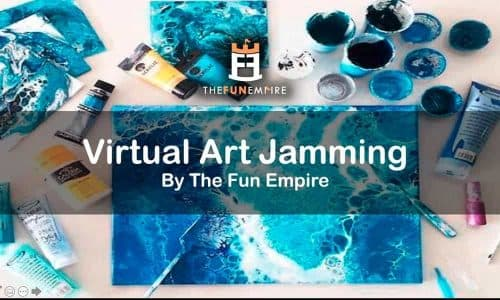 Year End Party Themes: virtual art jamming